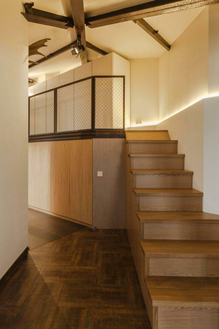Interior moderno con detalles en negro de u me architects - Diseno interior armarios ...