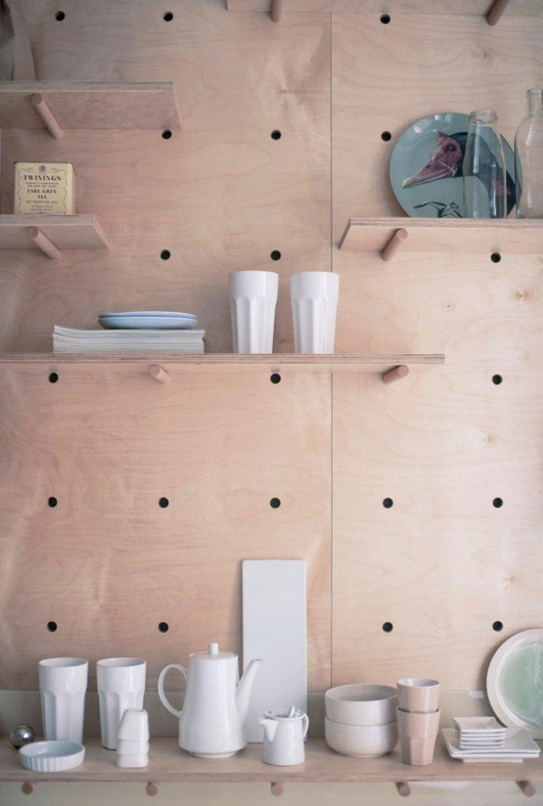 espacio diseño colectivo paredes madera contrachapada