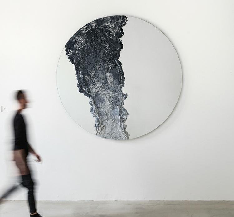 espejos paredes ambientes arena circular