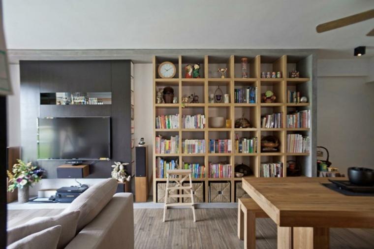 Librerias para sal n 48 fotos que lograr n inspirarte - Librerias salon modernas ...