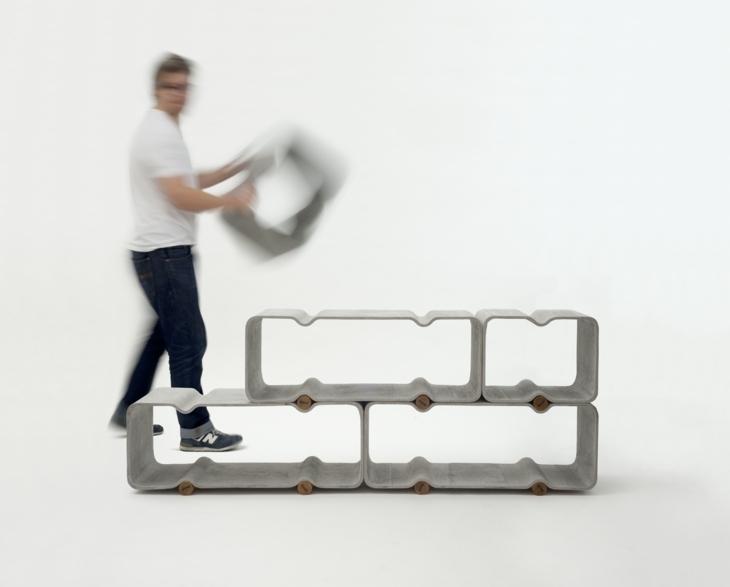 estantes segmentos funcionales madera ideas