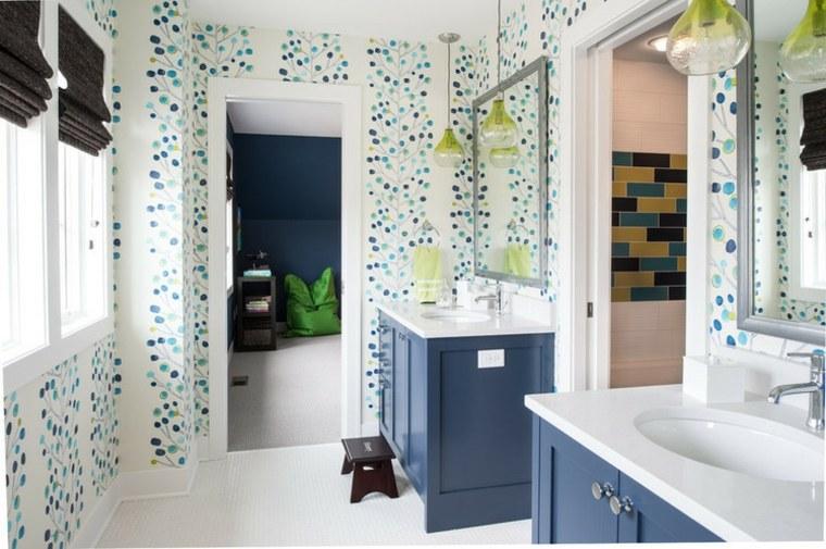 estupenda decoracion paredes baño