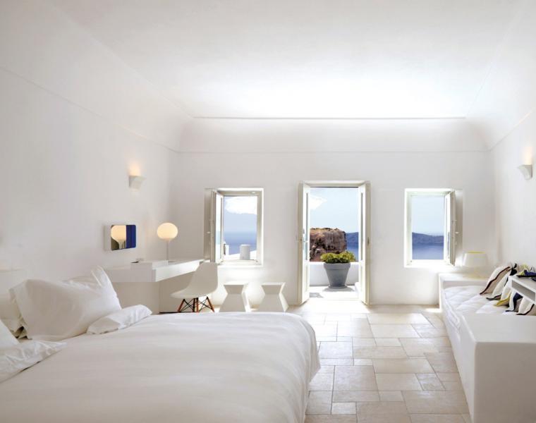 estupenda habitación moderna blanca