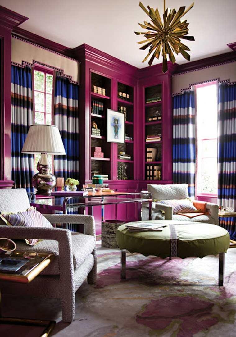 Librerias Para Sal N 48 Fotos Que Lograr N Inspirarte  # Muebles De Sala Fucsia