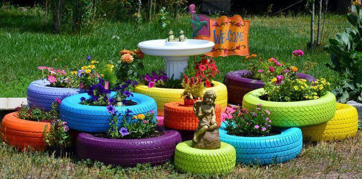 estupenda decoracion jardin fuente