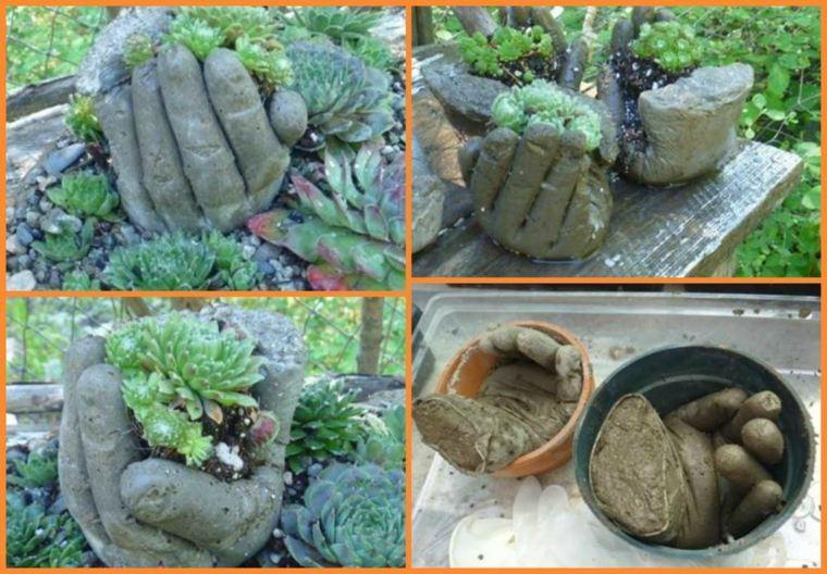 estupendas ideas adornos jardin