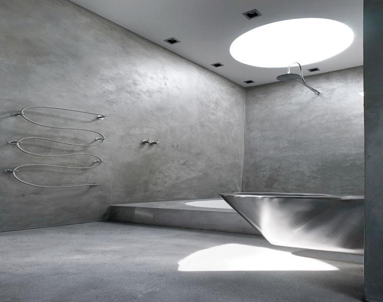 estupendo cuarto bano paredes cemento