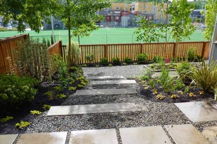 estupendo jardin camino diseño paisaje