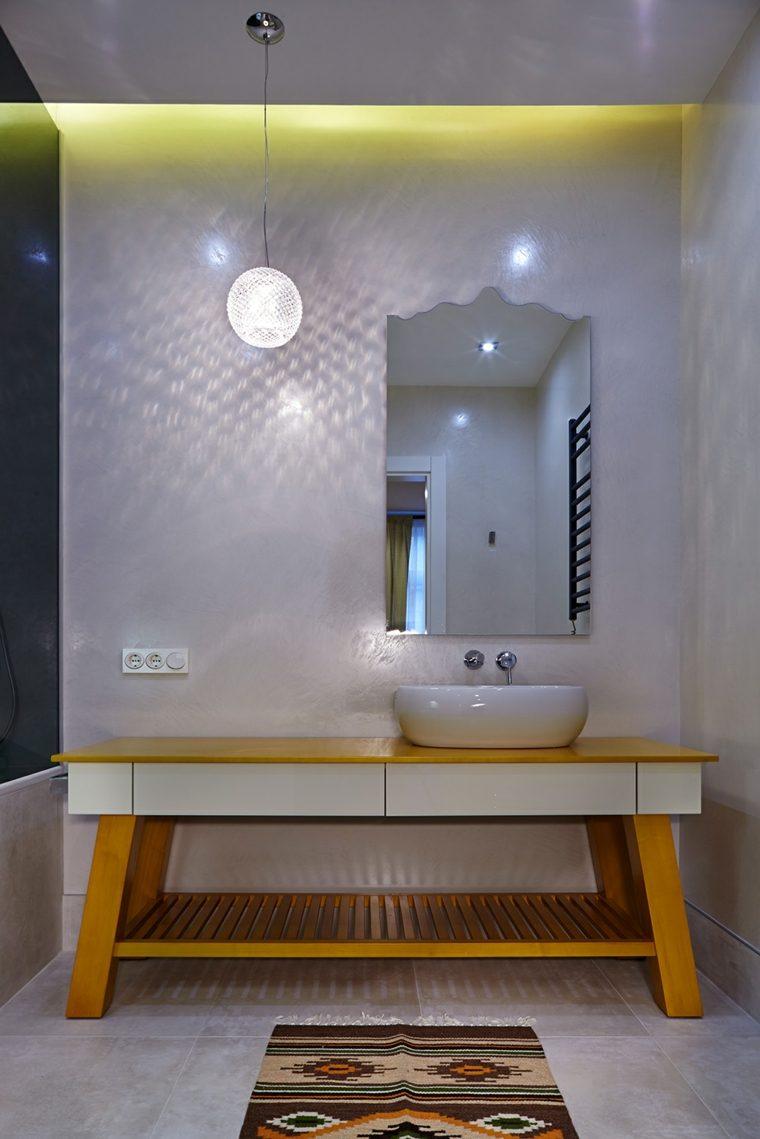 estupendo muble lavabo moderno madera