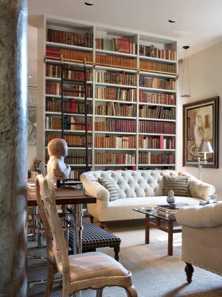 estupendo salón columna mármol