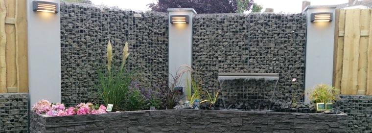 estupenda fuente gaviones piedra