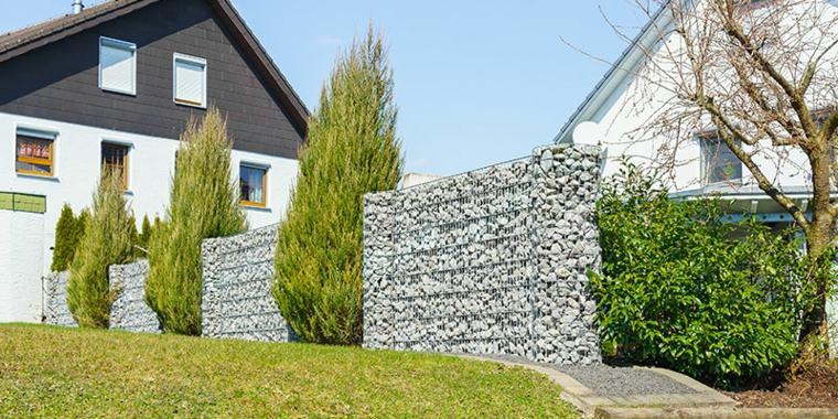 Gaviones decorativos para patios y jardines 34 ideas - Muros para jardin ...