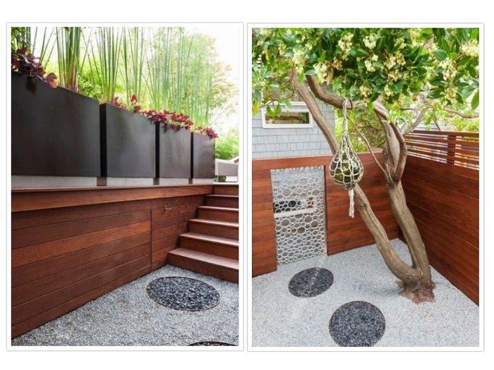 exteriores estilos muebles suelos macetas
