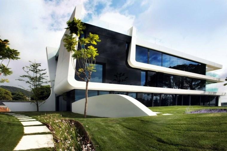 fachada moderna A cero.