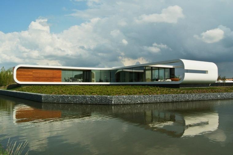 fachadas de casas modernas de WaterstudioNL