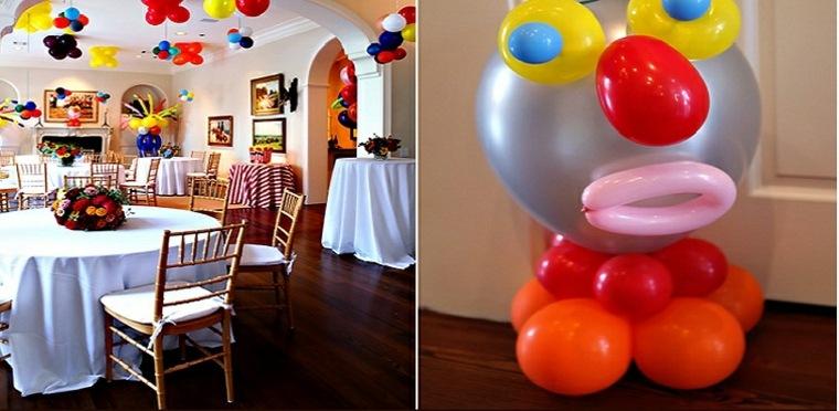 fiesta cumpleaños muchos colores
