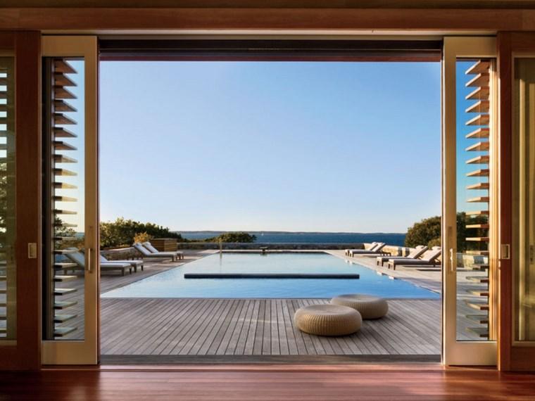 foto de piscinas muebles jardin taburetes tumbonas ideas