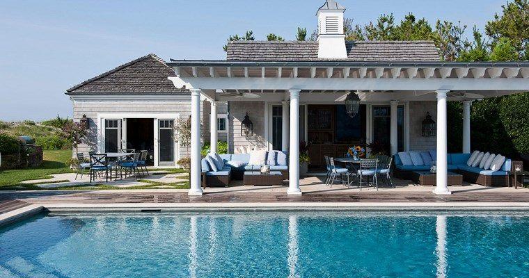 fotos de piscinas muebles jardin diseno azul ideas