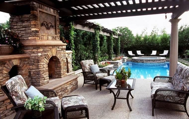 fotos de piscinas muebles jardin diseno rustico muebles comodos ideas