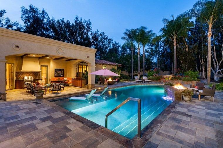 photos of pools furniture garden illuminated ideas