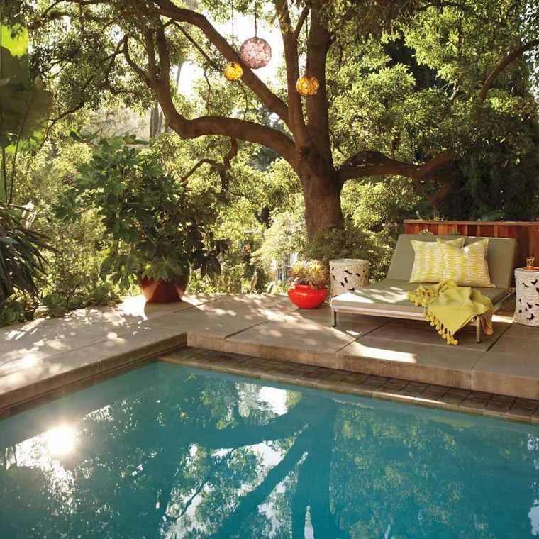 photos of pools garden furniture decorative pots ideas