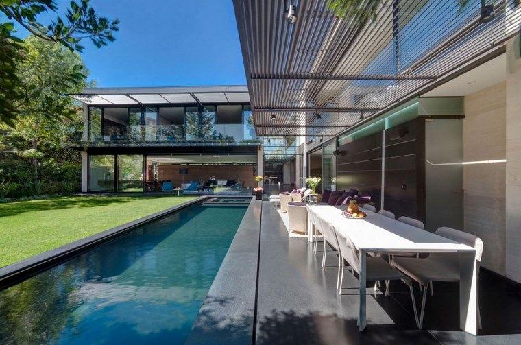 fotos de piscinas muebles jardin muebles blancos pergola ideas