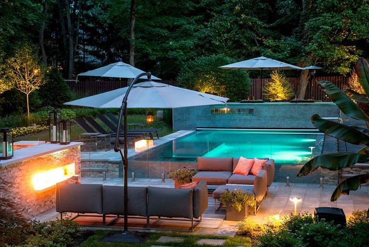 photos of pools garden furniture umbrella small pool ideas