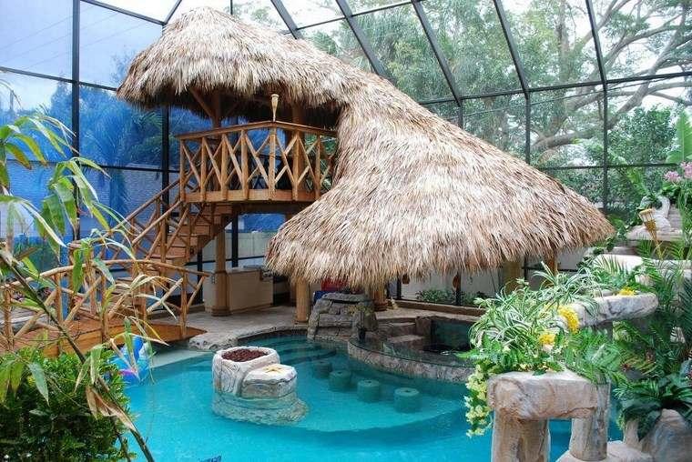 fotos piscinas muebles jardin casa techo ideas
