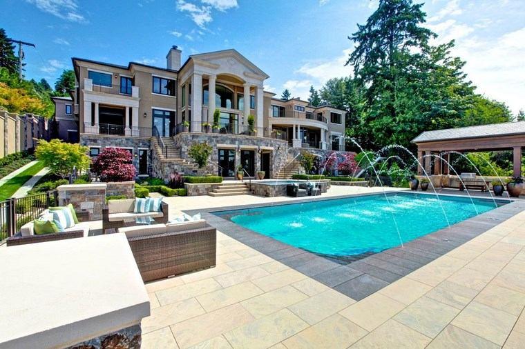 fotos piscinas muebles jardin opciones fuentes ideas