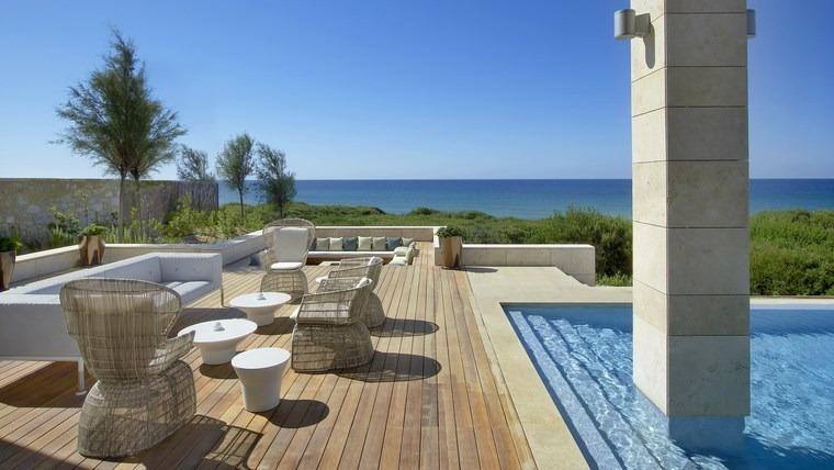 fotos jardins piscinas: originales consejos y fotos de piscinas y muebles de jardín modernos