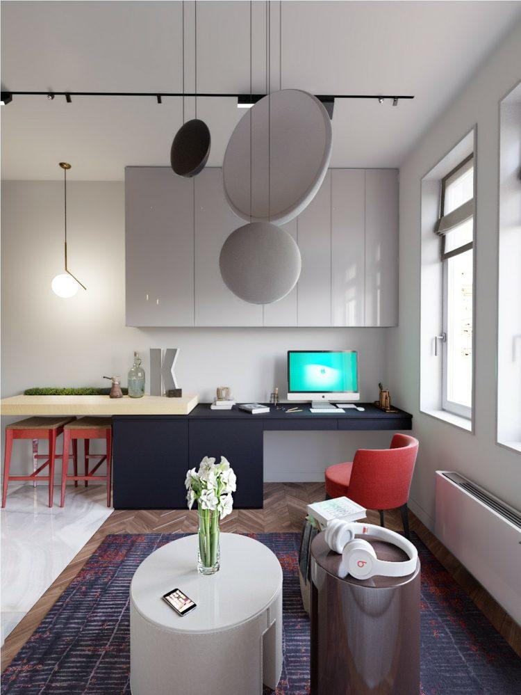 frecuencias espacios salas materiales rojos