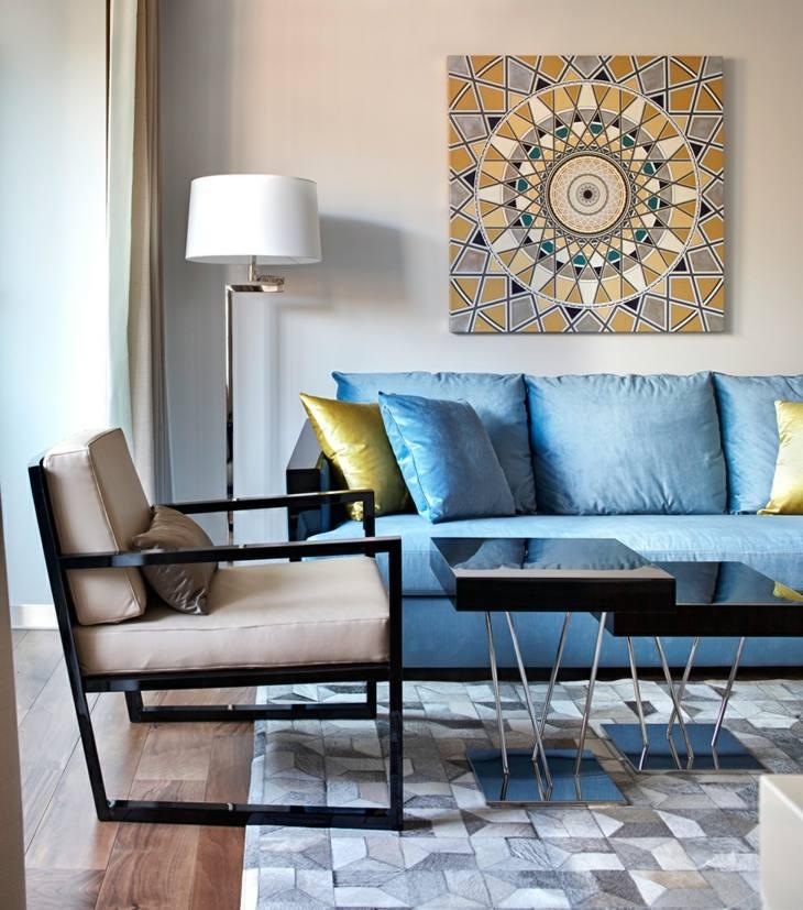 geometricos colores efectos muebles conceptos