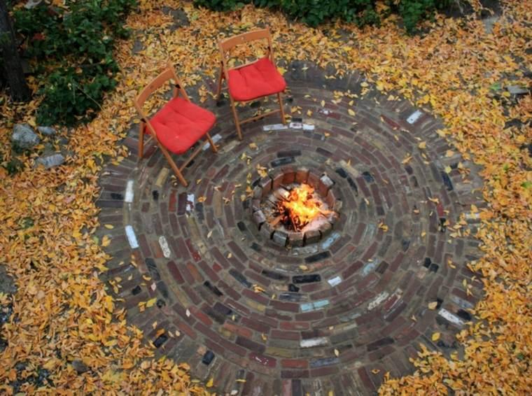 glorieta jardin pozo fuego