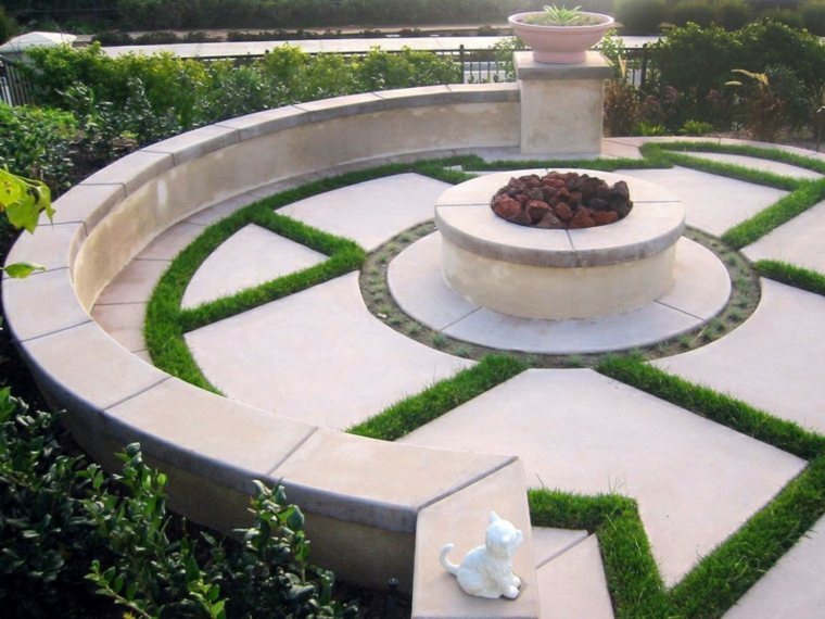 glorieta jardin lujosa forma redonda