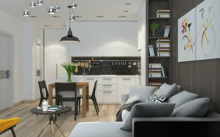 grises efectos conceptos paredes lamparas