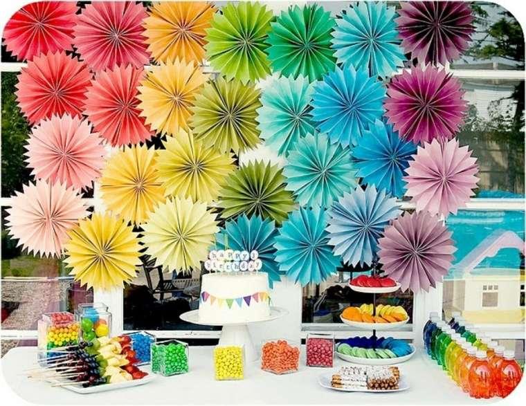 Ideas Originales Para Cumpleanos Como Decorar Una Fiesta - Adornos-de-papel-para-cumpleaos