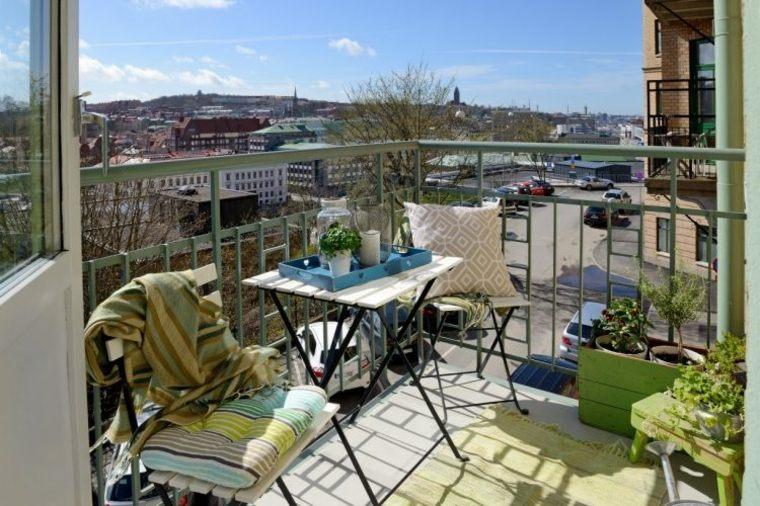 ideas para terrazas pequeñas verde