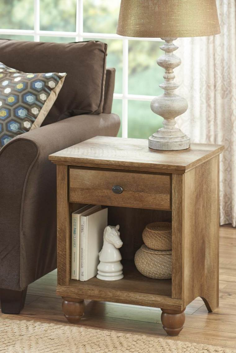 ideas decoracion baratas mesita madera vintage moderno