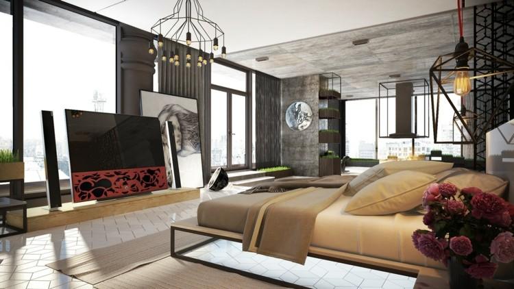ideas decoracion habitacion especiales efectos metales