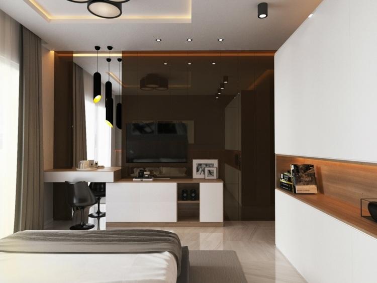 ideas decoracion habitacion madera conceptos led