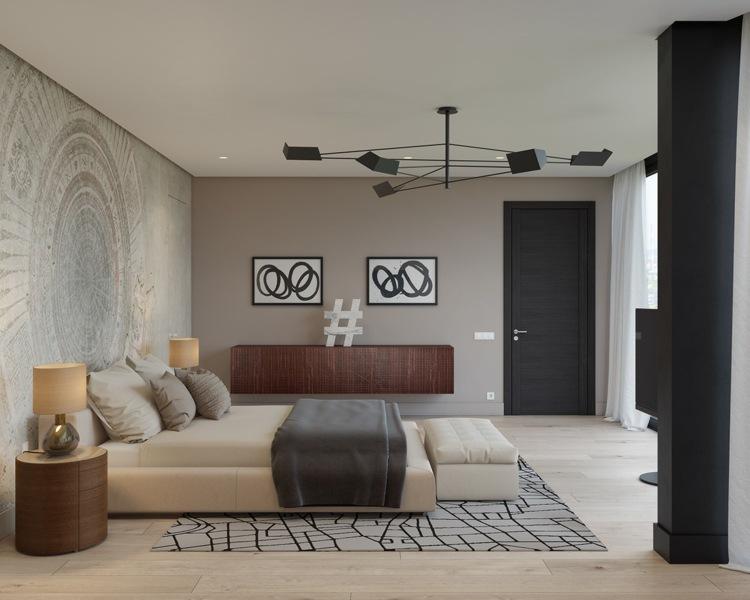 ideas decoracion habitacion puentes mesas grises