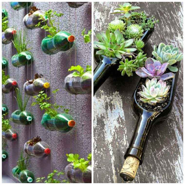 ideas originales deco jardines verticales