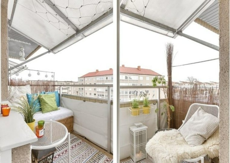 Ideas para terrazas y balcones peque os 24 im genes for Mobiliario para balcones