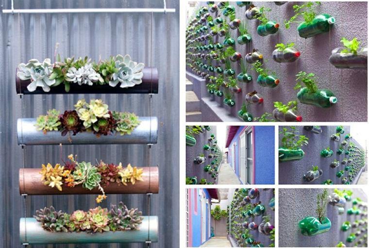 Ideas para jardines verticales veinticuatro dise os for Jardines pequenos horizontales