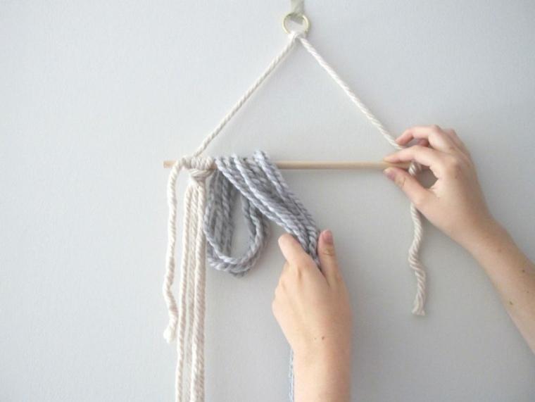 ideas hacer tapiz diy lana