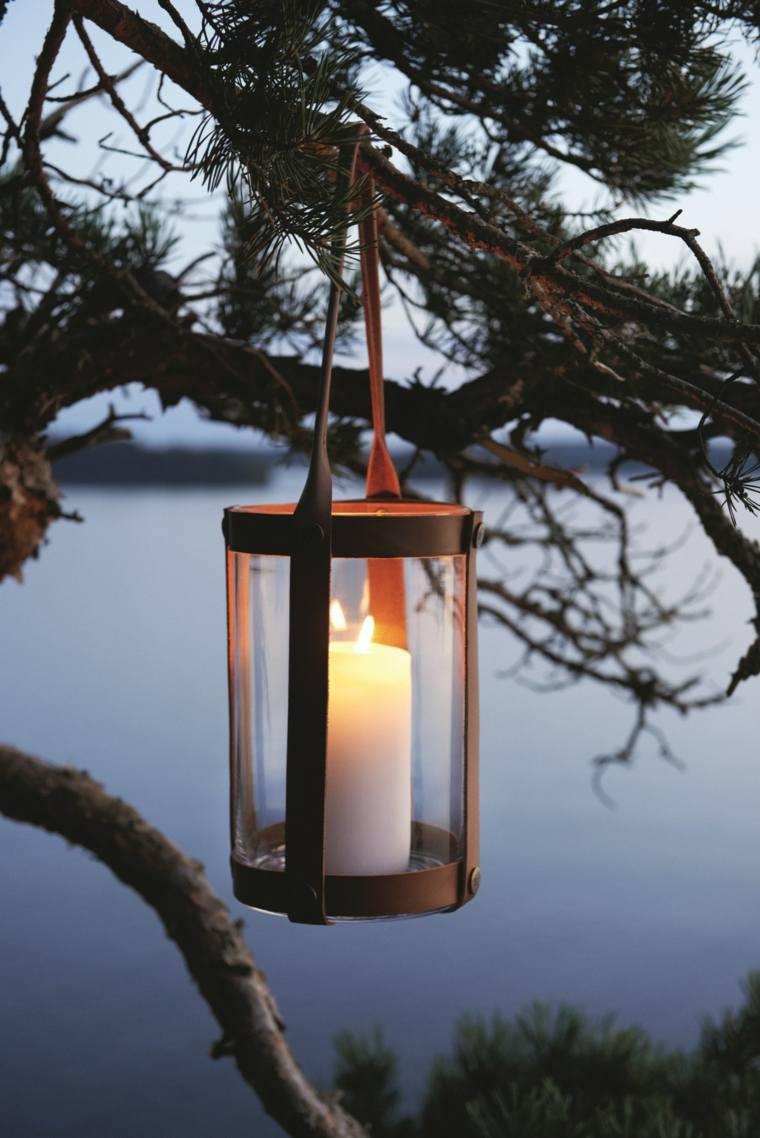 iluminacion farolas diseno vintage arbol ideas