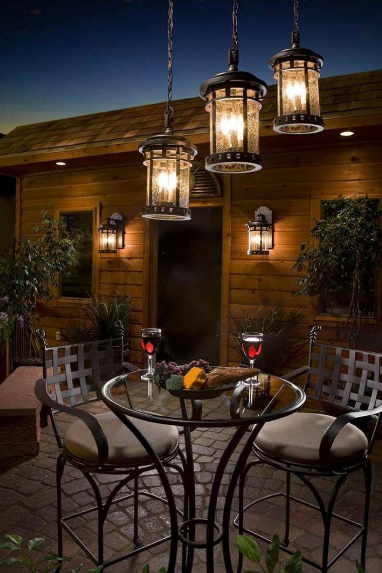 iluminación farolas y linternas para el jardín moderno -