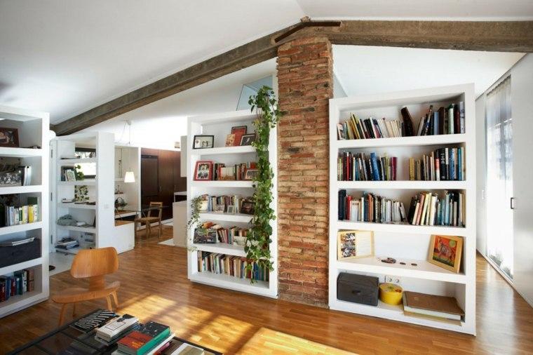 imagen libreria moderna integrada salón