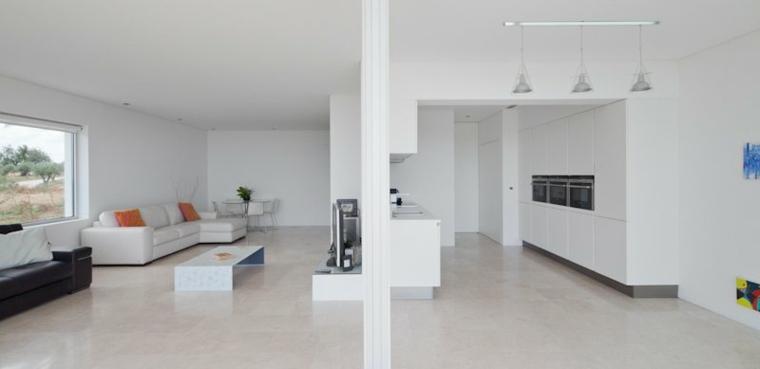 interior de estilo minimalista blanco