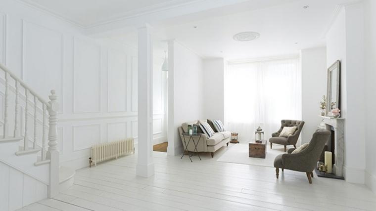 interiores modernos lujosos color blanco